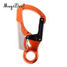 MagiDeal Double Lock Captive Eye Forged Snap Hook Carabiner 25KN for Rock Climbing