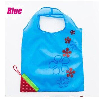 Bolsa de nailon plegable para compras ecológica, reutilizable, con capacidad para 2 piezas, 60X
