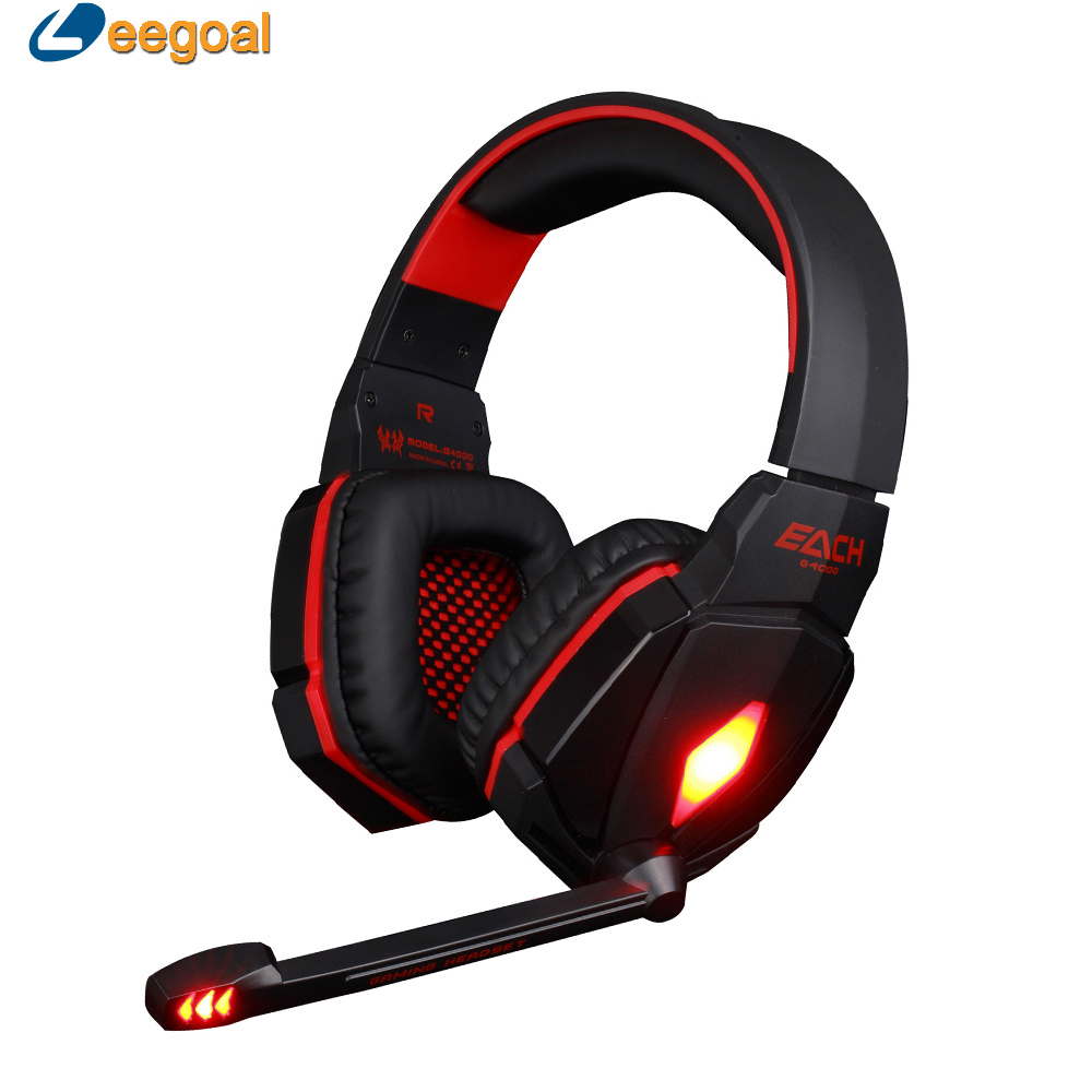 G4000 Gaming Headset Stereo Headphone Headset Headband with Mic Volume Control for PC Game Comfortable rock y10 stereo headphone earphone microphone stereo bass wired headset for music computer game with mic