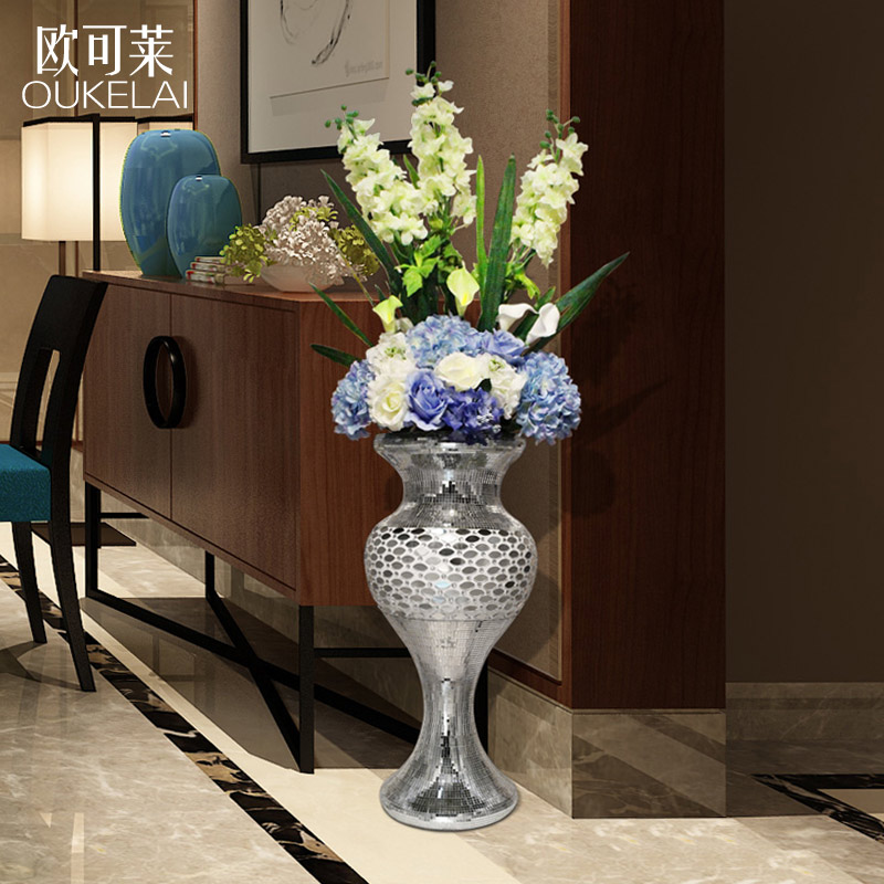 European Large Vase Home Furnishing Decor Tv Cabinet Floor Living Room Decoration Villa Wedding Hotel