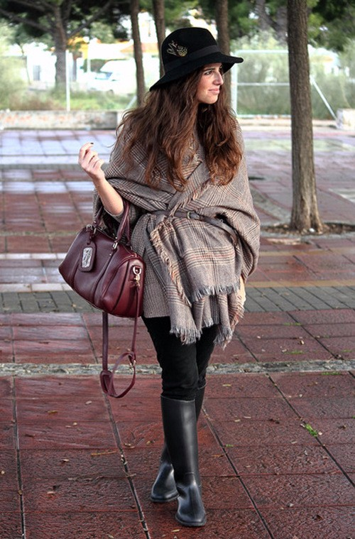 Classic Tartan Poncho Scarf | Ponchos and Capes | Up to 60% Off Now