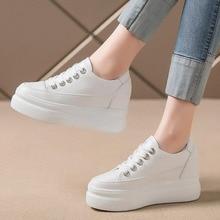 Women White Sneakers Fashion Platform Sneakers New Autumn Women