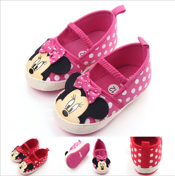 Kasut Bayi Kartun Baru Bayi Girls First Walkers Soft Bottom Toddlers Crib Shoes