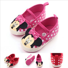 New Cartoon Baby Shoes Infants Girls First Walkers Soft Bott