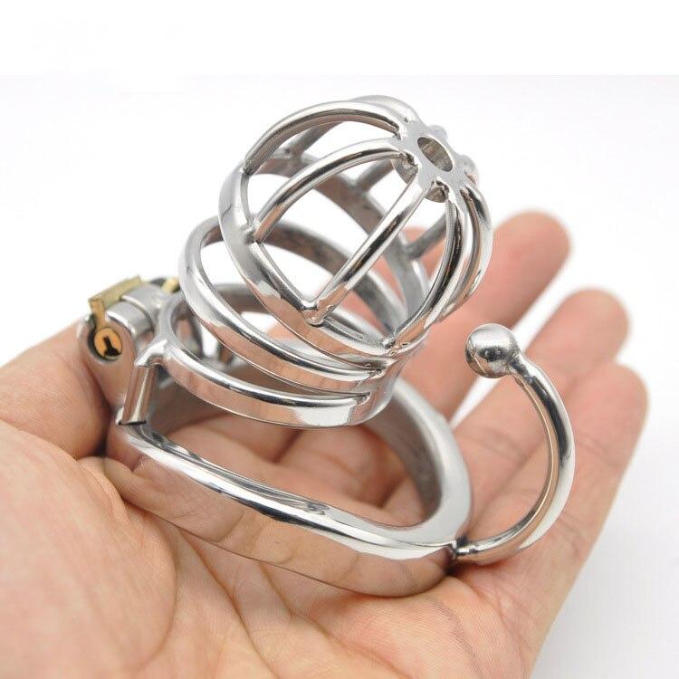 ツ)_/¯304 de acero inoxidable Polla jaula juguetes del sexo para el ...