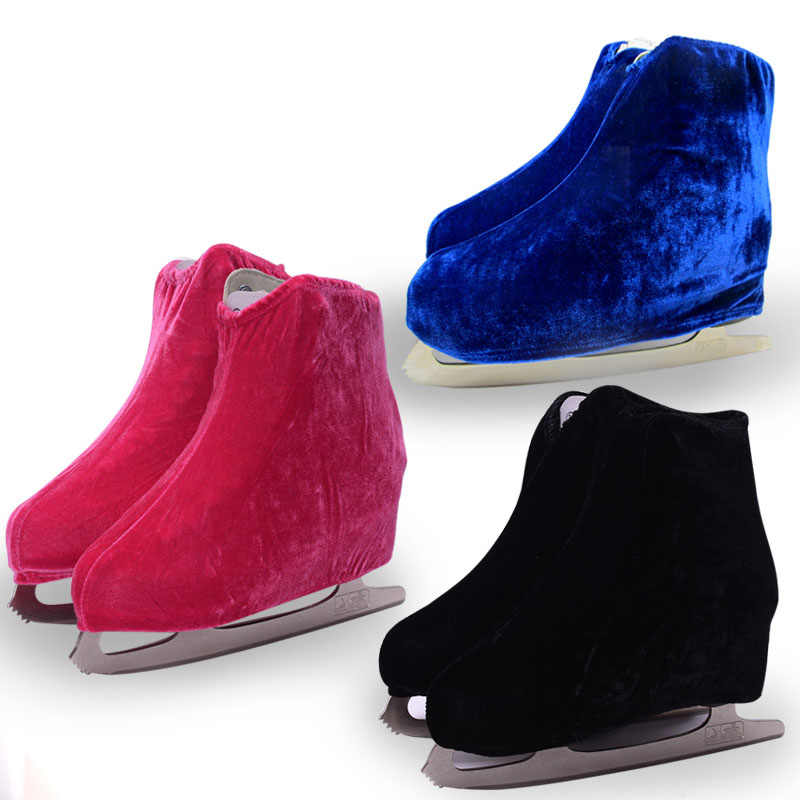 2 Colors Child Adult Velvet Ice Skate Figure Skating Shoes Cover Blade Cover Solid Rollar Skate Shoes Accessories Athletic