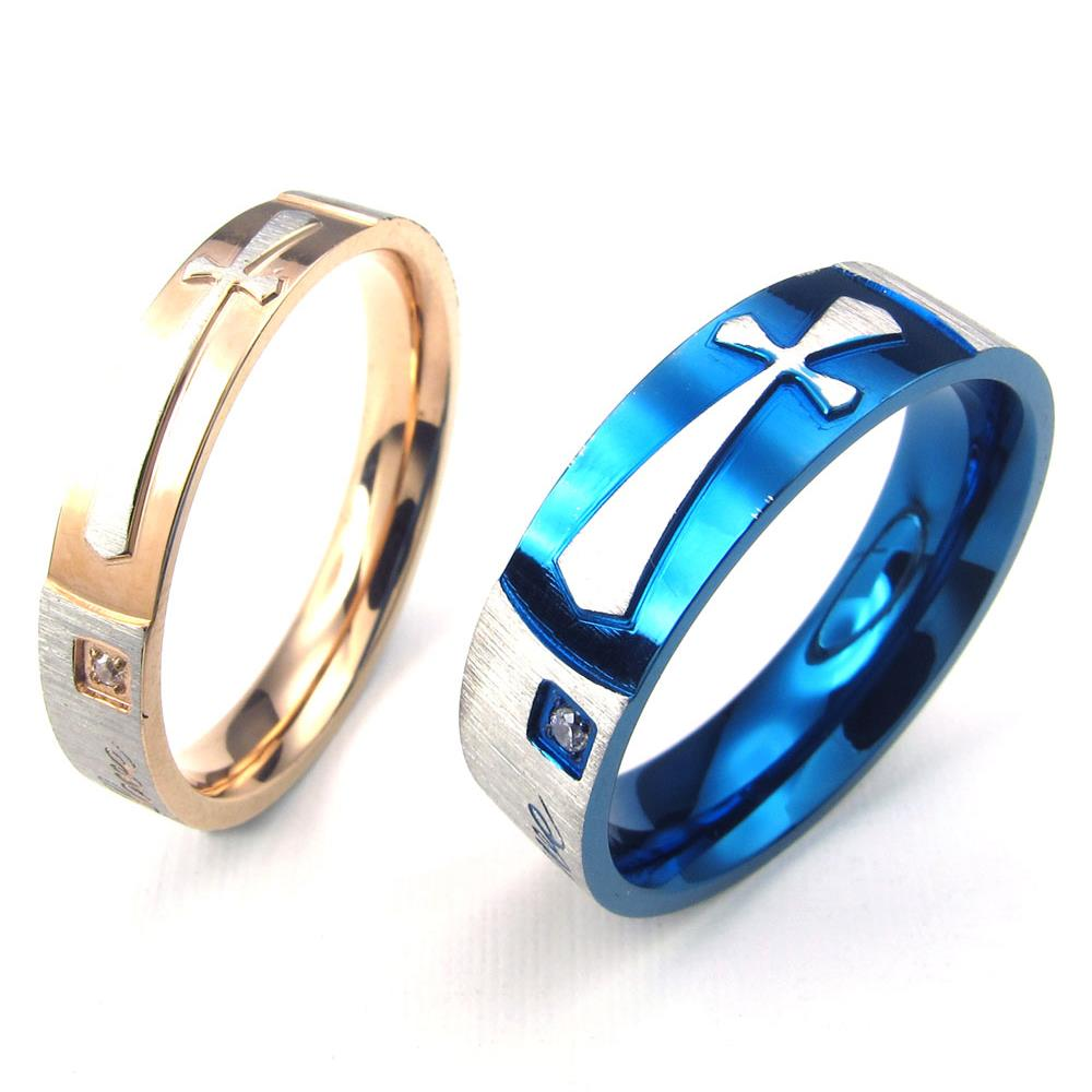 Popular Couples Promise Rings with Crosses-Buy Cheap Couples ...
