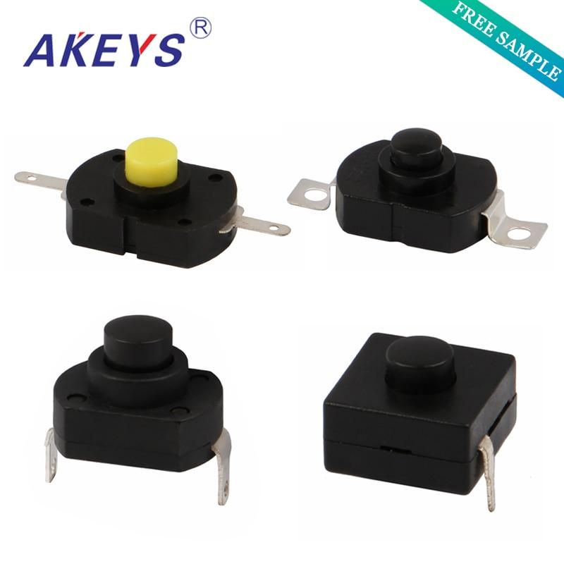 AC 250V 5A 40A SPST Self Locking Micro Power Push Button Switch 15PCS