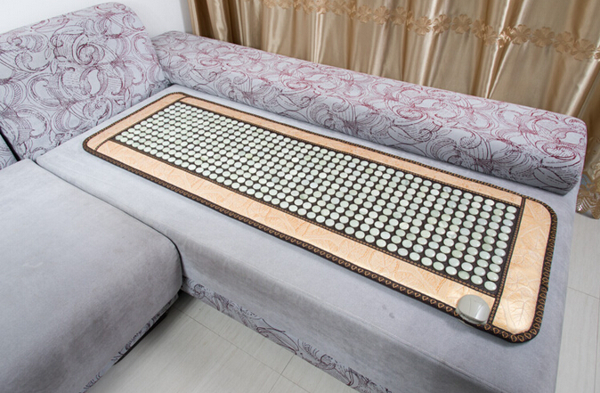 Hot Selling Natural Jade Stone Sofa Mat Far Infrared Heating Therapy Jade Mattress Physical Therapy Cushion Free Shipping home improvement marble stone mosaic tiles natural jade style kitchen backsplash art wall floor decor free shipping lsmb101