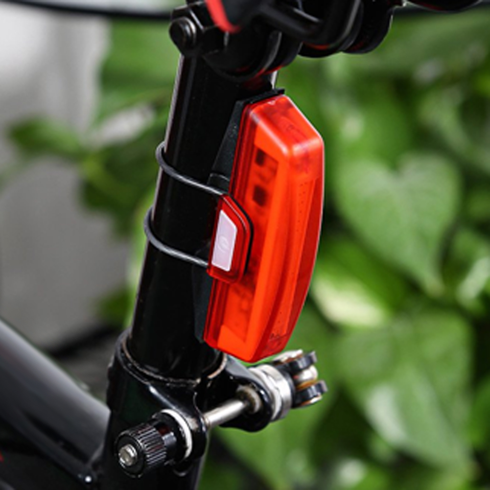100Lm Bicycle Tail Light USB MTB Road Bike Tail Light Cycling Tail Lamp Bicycle Rear Lamp Waterproof 6 Modes Warning Light