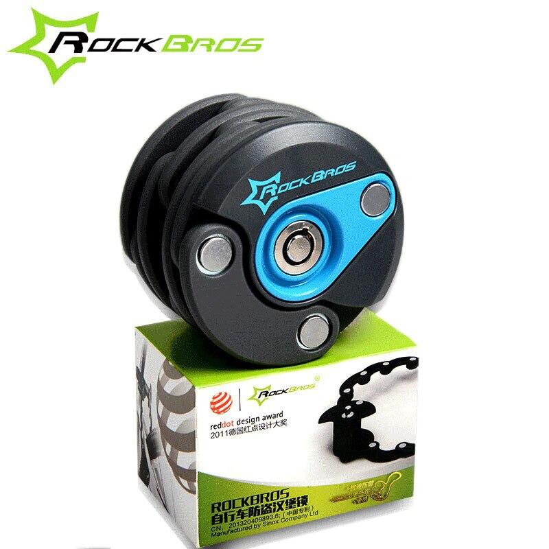 Rockbros haute qualité antivol route VTT serrure pliable sécurité cyclisme Mini chaîne serrure avec 3 clés pièces de vélo