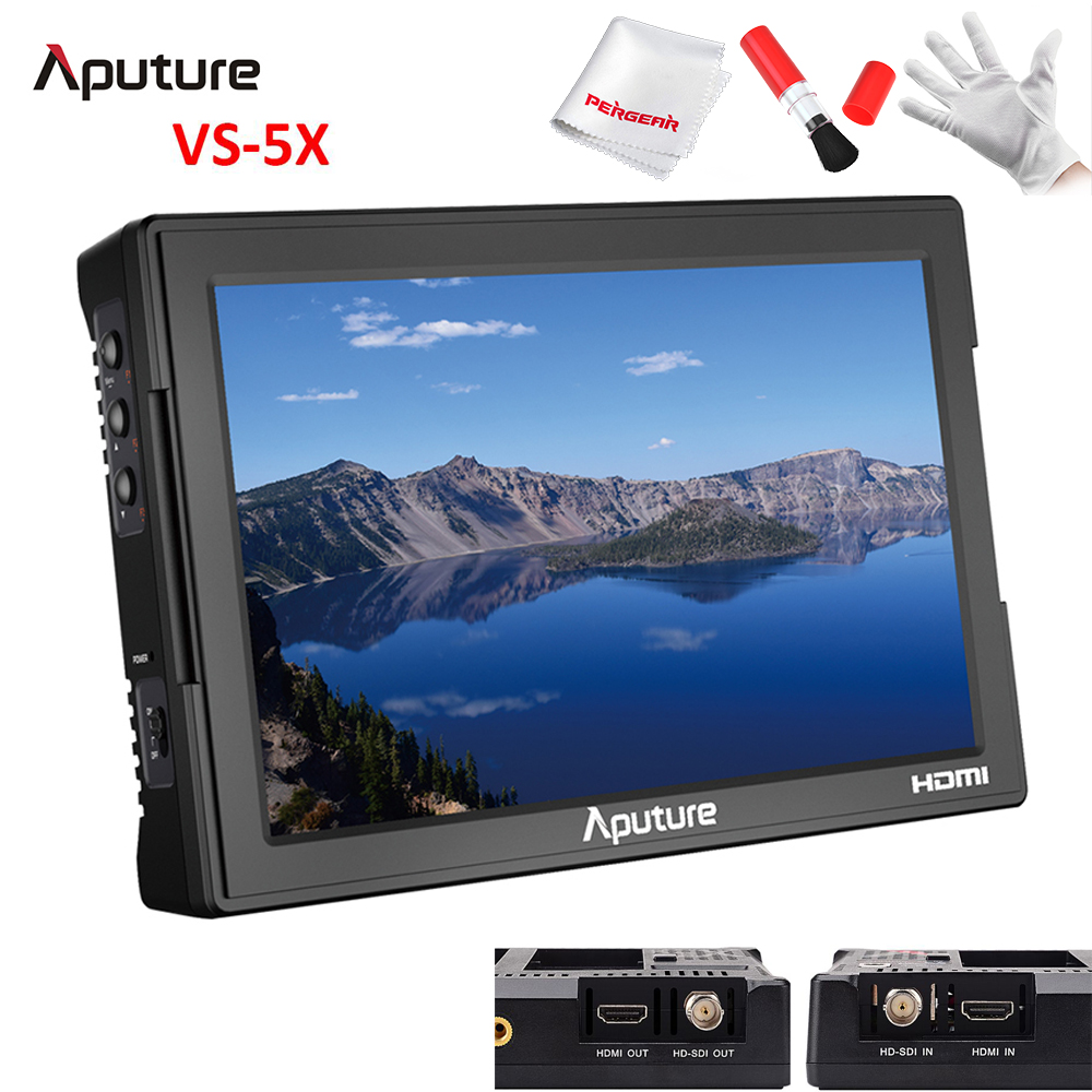 Newest Aputure VS-5X Profession 7 Monitor SDI HDMI Input Output Waveform Vectorscope with SDI Timecode Best SDI Monitor PK VS-5 aputure vs 5 7 inch sdi hdmi camera field monitor with rgb waveform vectorscope histogram zebra false color to better monitor