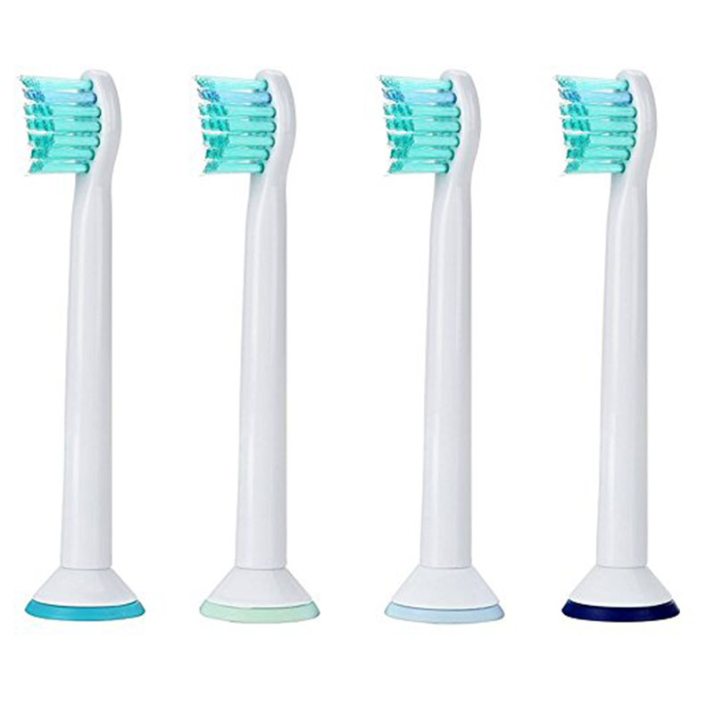 4pcs Best Generic Electric Sonic Toothbrush Replacement For Philips Sonicare Tooth Brush Heads Kids Compact Soft Bristles HX6024 4pcs electric sonic replacement tooth brush heads for philips sonicare toothbrush heads dual soft bristles sensiflex hx2014