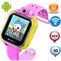 Jm13 originais 3g smart watch câmera lbs gps wifi crianças relógio de pulso SOS Rastreador Alarme Do Monitor Para IOS Android smartwatch pk q90 Q50