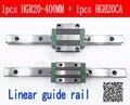 Новая линейная направляющая HGR20 400 мм с 1 шт. линейной направляющей HGH20CA HGH20 HGW20CC CNC детали