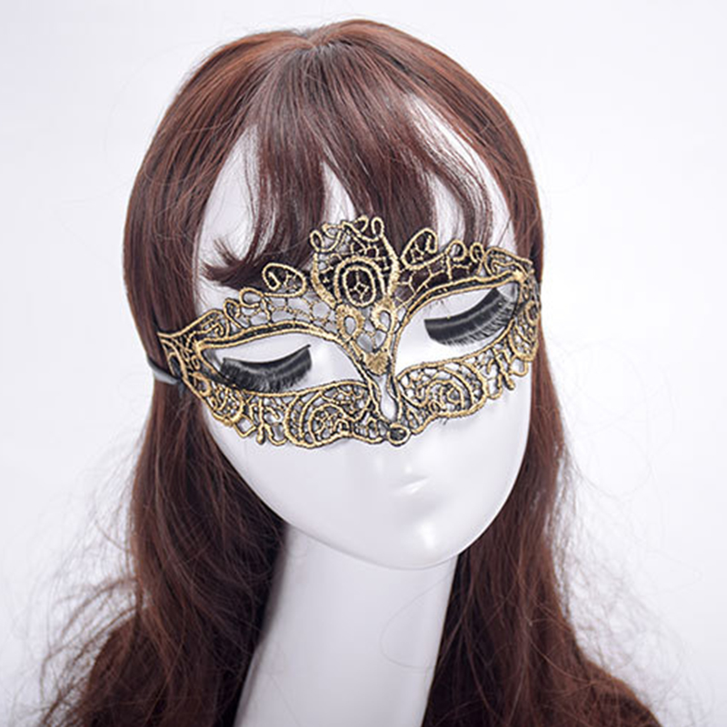 1 Piece Sexy Lace Decorative Border Ladies Mask Hollow Out Gold Silver Girls Party Masquerade Masks In From Home Garden On Aliexpress