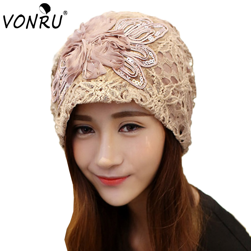 New Fashion Lace Flower Hats Casual Style Cap Elegant ...