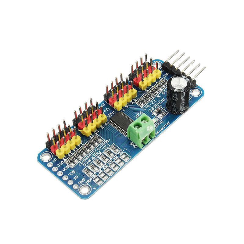 2PCS PCA9685 16-Channel 16CH 12-bit PWM Servo Motor Driver I2C Module For Arduino Robot  RC Drone