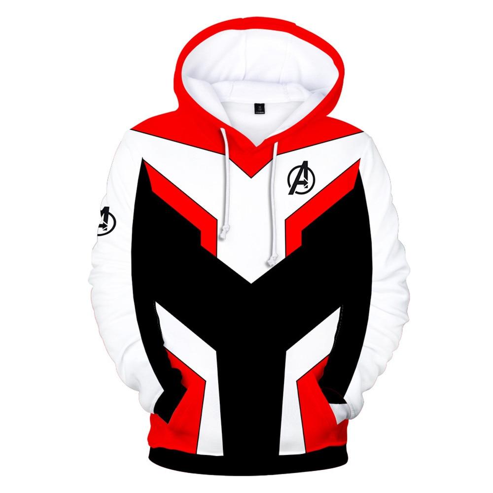 2019 new Cosplay Avengers 4 Endgame Quantum Realm Captain Marvel Sweatshirt 3D Print Unisex Hoodie Sweater jacket costume