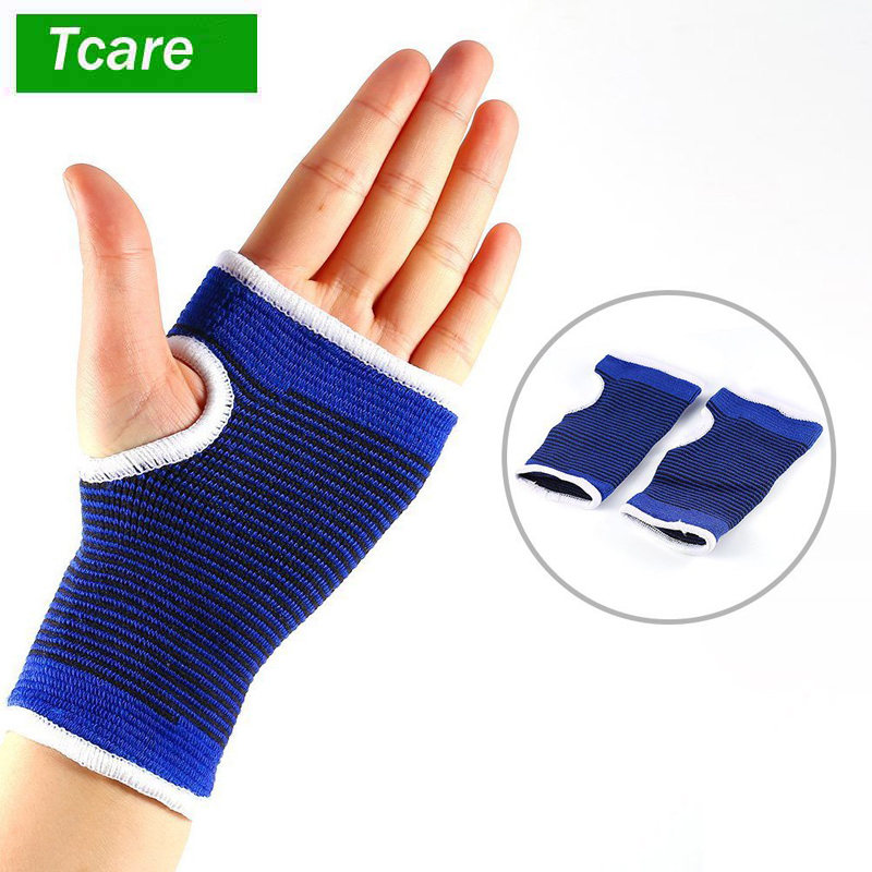1Pair Wrist Hand Brace Gym Sports Support Wrist Gloves Hand Palm Gear Protector Carpal Tunnel Tendonitis Pain Relief