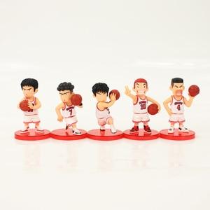 Image 3 - 5 개/몫 SLAM DUNK Shohoku 농구 선수 Anime Figure Doll 사쿠라기 하나미치 Rukawa Kaede 모델 장난감