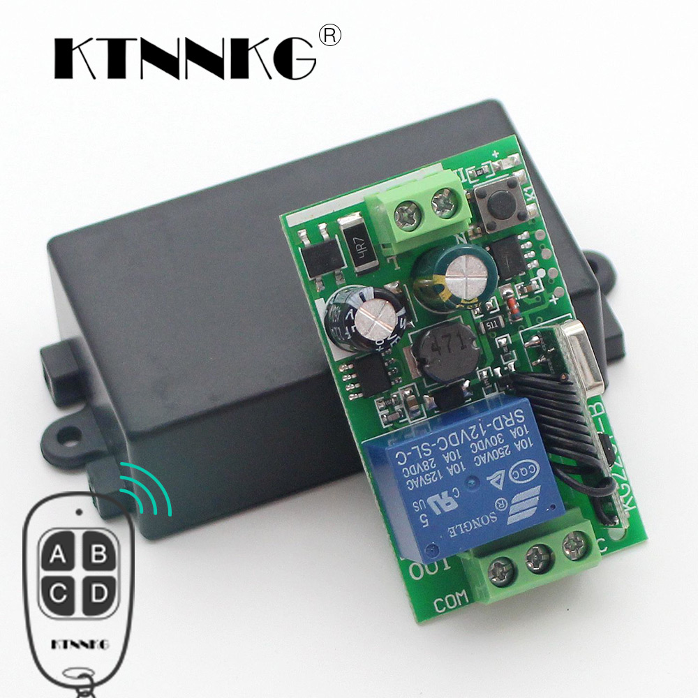 KTNNKG 433Mhz Universal Wireless Remote Control Switch AC 85V 110V 220V 1CH Relay Receiver Module for RF 433 Mhz Remote Controls universal wireless remote control switch 433mhz ac 85v 250v 110v 220v 1ch rf relay receiver module and 433 mhz remote controls