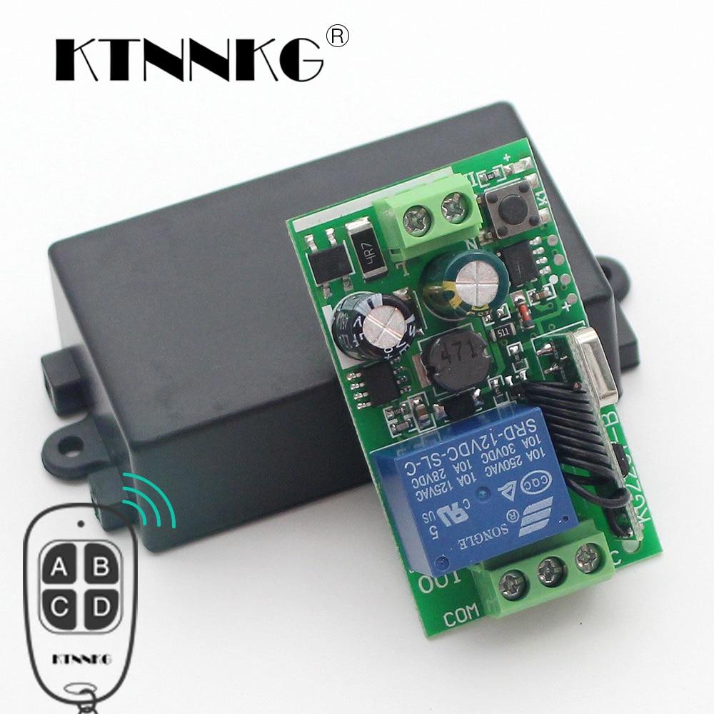 KTNNKG 433Mhz Universal Wireless Remote Control Switch AC 85V 110V 220V 1CH Relay Receiver Module for RF 433 Mhz Remote Controls 433 mhz universal wireless remote control switch ac 12v 220v 2ch relay receiver module and rf 433mhz remote controls