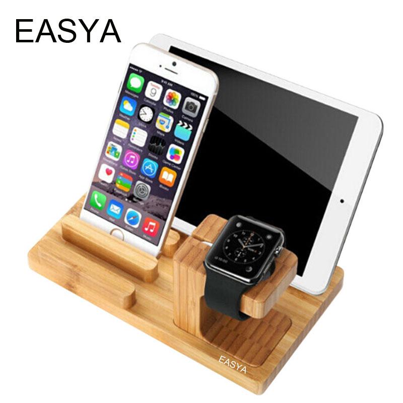 EASAY Tablet Stand Holder Multifunction Wooden Holder