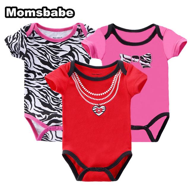 3 pçs/lote bebê menino roupa do bebê recém-nascido bodysuit de algodão de manga curta roupa do bebê desgaste do bebê da criança cueca infantil clothing
