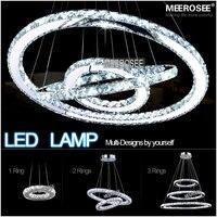 도매 2015 새로운 디자인 뜨거운 판매 다이아몬드 반지 주도 크리스탈 샹들리에 현대적인 램프 주도 조명 서클