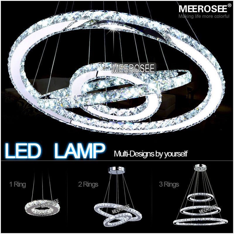 Wholesale 2015 new design  Hot sale Diamond Ring LED Crystal Chandelier  Modern LED Lighting Circles Lamp with free shipping  цены
