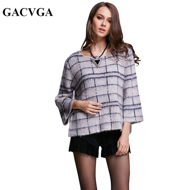 GACVGA Brand Wool Knitted Pullover Sweater Jumper O-Neck Oversized Women Sweaters And Pullovers Autumn Winter Pull Femme