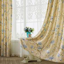 Manufacturers Direct Sales Curtain Fabric Living Room Bedroom European Printing Shading Curtains Home Decoration Accessories