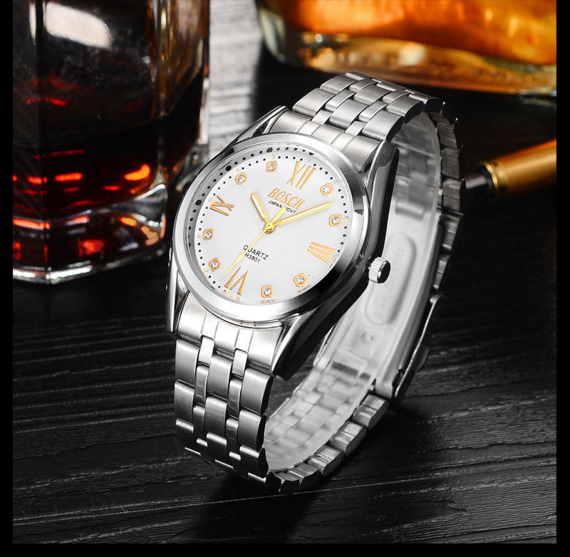 The mirrored rectangle is beautiful and casual, and the watch is made of tungsten steel. casual metal crossbar mirrored oval sunglasses