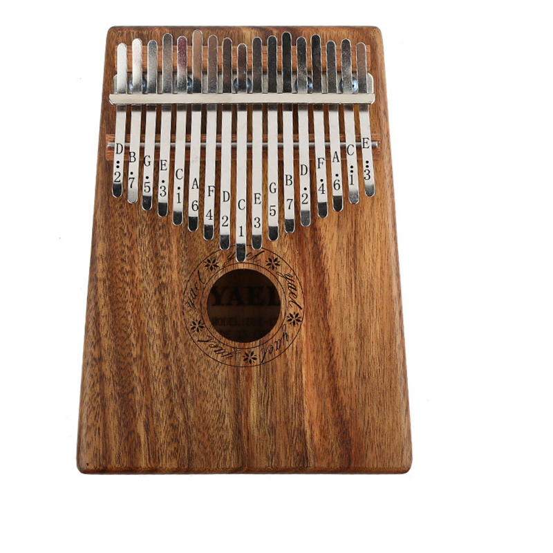 Kalimba 17 Touches Marimba Piano à pouces Africain Mbira Doigt Piano Percussion Clavier Musique Instruments Acacia Koa Solide Bois
