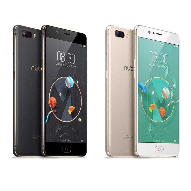 Nubia M2 4G 64G téléphone portable Snapdragon 625 Octa Core 5.5 pouces double arrière 13.0MP grande batterie 3630 mAh avant identification d'empreintes digitales