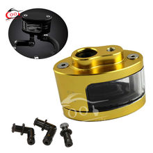 Universal Motorcycle ATV Dirt Bike CNC Brake Clutch Reservoir Oil Tank Cup Gold