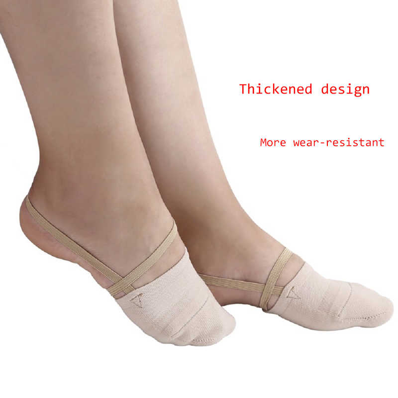 af0fb5608397 ... 1 Pair Rhythmic Gymnastics Shoes Elastic Ballet Dancers Shoes Half Socks  Ballroom Artistic Czech for Gym ...