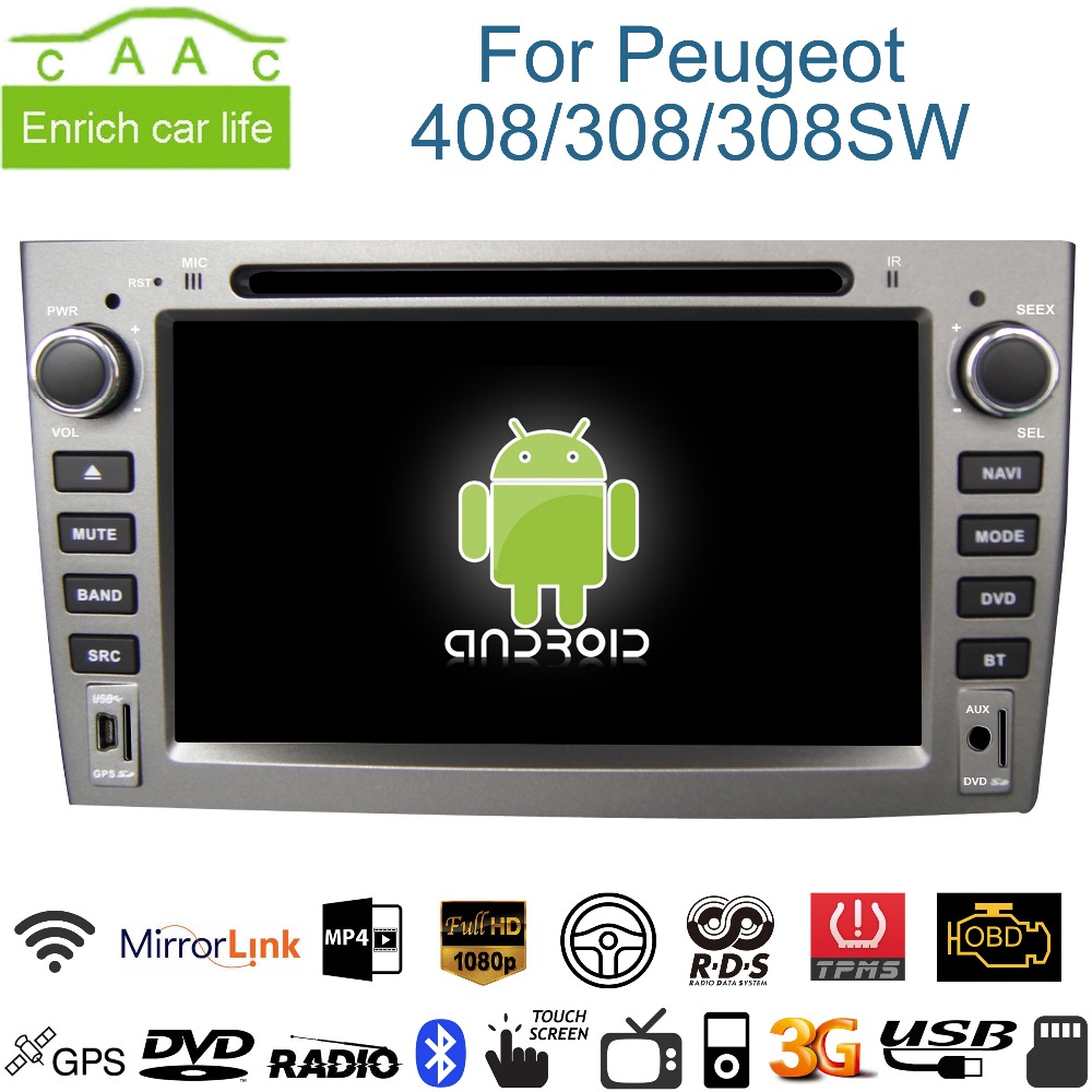 android gps navigation 7 car dvd player for peugeot 408 308 308sw with bluetooth rds 3g wifi. Black Bedroom Furniture Sets. Home Design Ideas