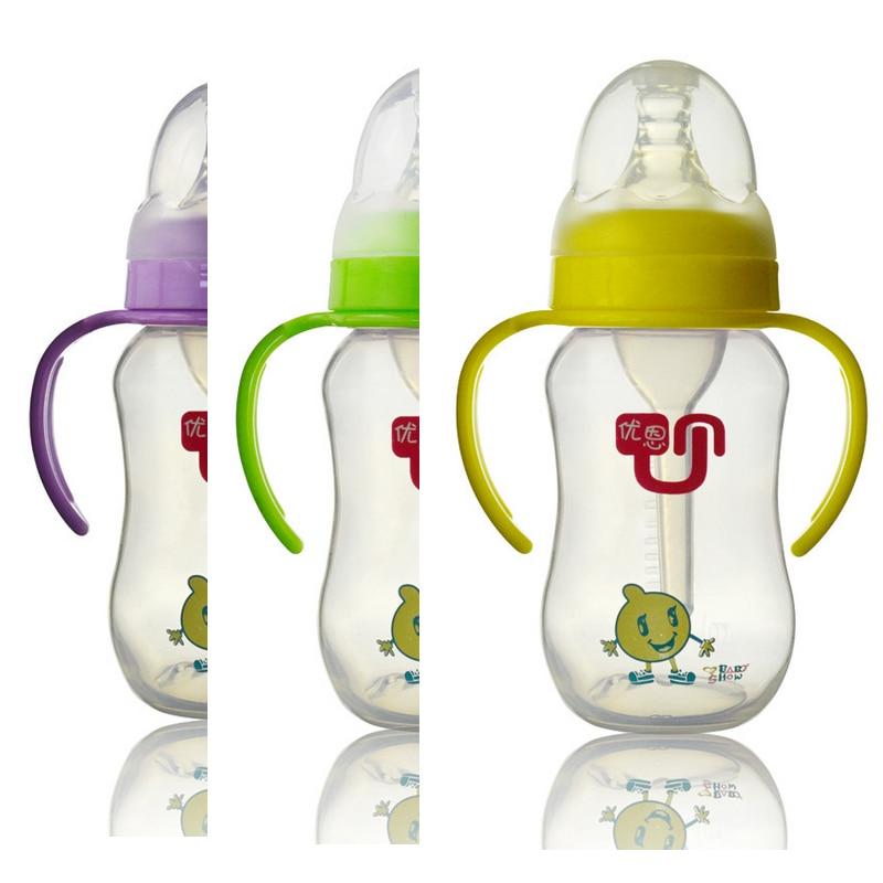 baby bottle character arc type standard 180ml handle purple green yellow blue light detachable. Black Bedroom Furniture Sets. Home Design Ideas