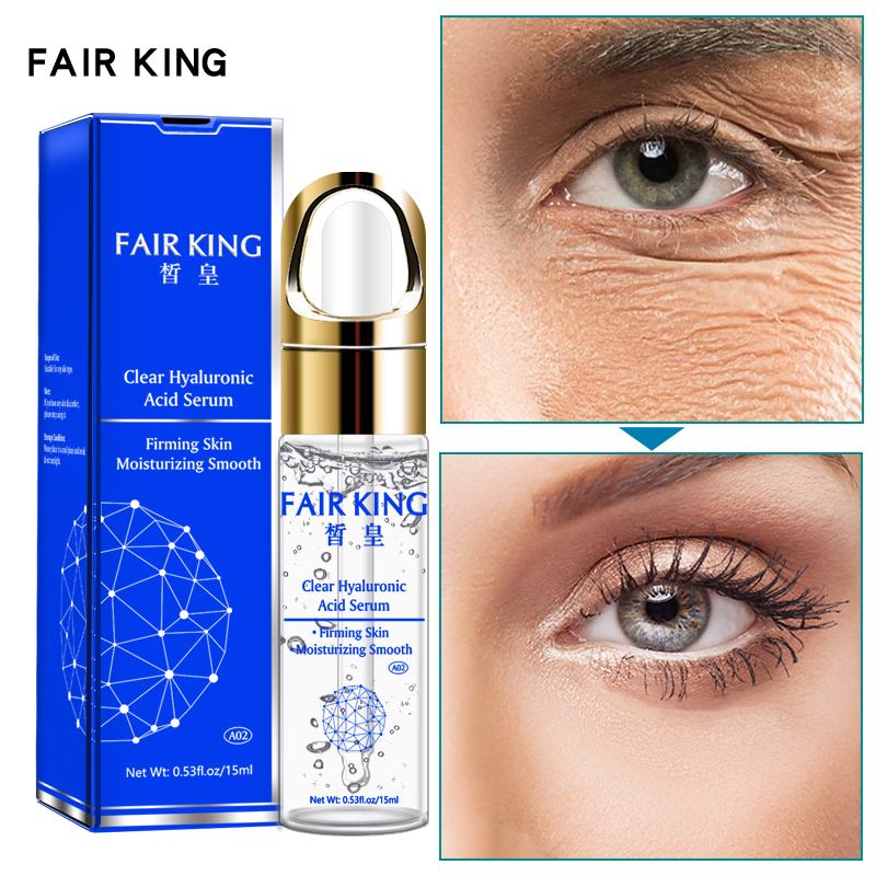 FAIR KING Hyaluronic Acid Eye Serum Anti-Wrinkle Remover Dark Circles Eye Essence Against Puffiness Anti Aging(China)