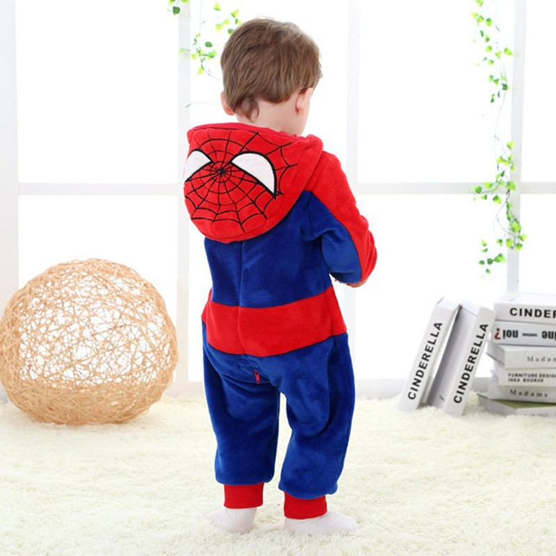 Spring and autumn baby boy clothes spiderman Captain America baby boy rompers Red Blue newborn clothes bodysuit one piece bebe (5)