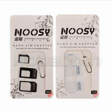 hopeboth 5000set/lot 4 in 1 Nano Sim Card Adapter + Micro Sim card adapter + Sim Card Adapter + Eject pin For Iphone 5 6 7