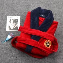 Winter Mannen Luxe Badjas Thicken Plus size XXXL Lange Mouw Nachtkleding Handdoek Fleece Heren Badjas Kimono Hommes Badjassen