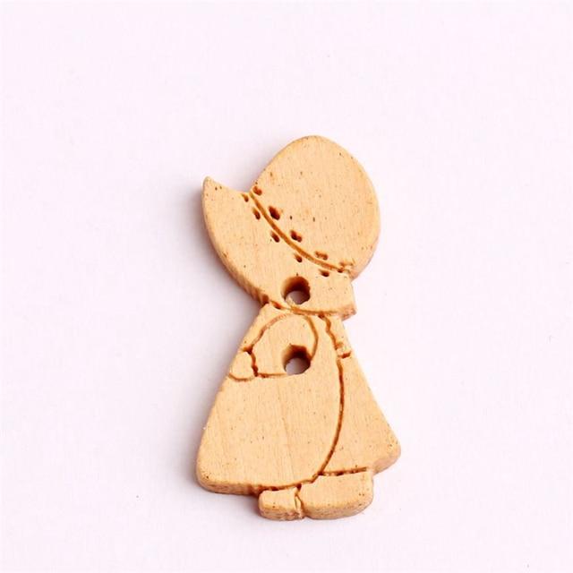aliexpress com buy 100pcs new cartoon cap girls wooden buttons