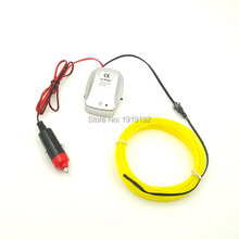 Powered By DC-12V 2.3mm-Skirt 5Meters EL Wire Tube Rope Sound activated Flexible Neon Cold Light For Bike Car Party Decoration