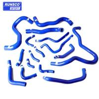 Silicone Intercooler Turbo Radiator Hose Kit For Honda Civic 10th generation 16pcs/set