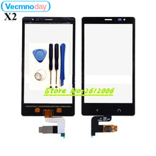 """Vecmnoday High Quality 4.3"""" For Nokia X2 Dual SIM RM-1013 X2DS Touch Screen Digitizer Sensor Front Glass Lens panel + tools"""