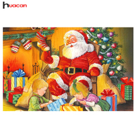 New Santa Claus Diamond Painting Cross Stitch Handmade 5D Portrait Diamond Embroidey Mosaic Christmas Gift Europe