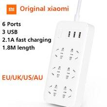 Оригинальный Xiaomi Plug CXB6-1QM зарядки мощность полосы 2A быстрой зарядки 6 выход с 3 USB выход расширители умный дом